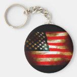 American Flag Items Keychain