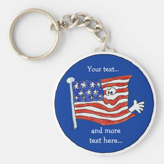 American Flag Key Chain To Customise