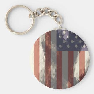 American Flag Key Ring