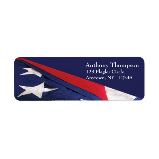 American Flag Label Return Address Label