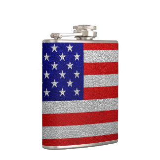 American Flag Leather Hip Flask