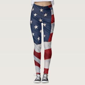 American Flag Leggings
