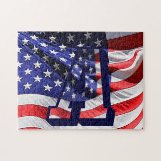 """American Flag & Letter """"A"""" Photo Puzzle"""