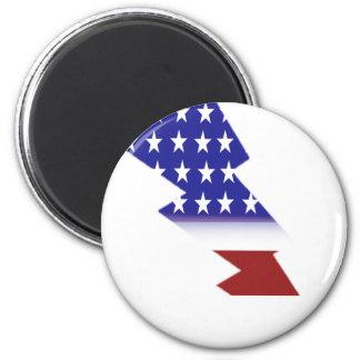 American Flag - lightning shape Magnet