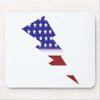 American Flag - lightning shape Mousepads