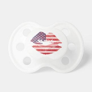 American flag lips dummy