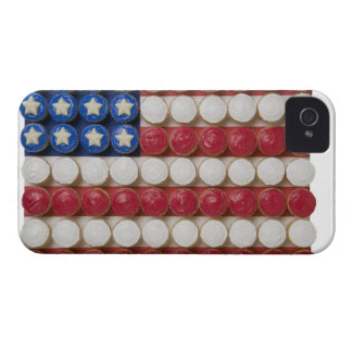 American flag made of cupcakes iPhone 4 case