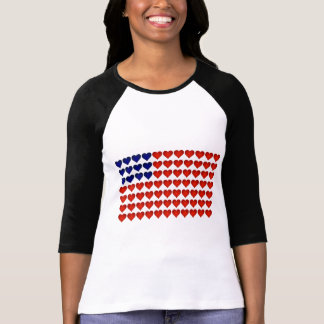 American Flag Made of Hearts T-Shirt