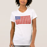 American Flag Made of Hearts T-shirts
