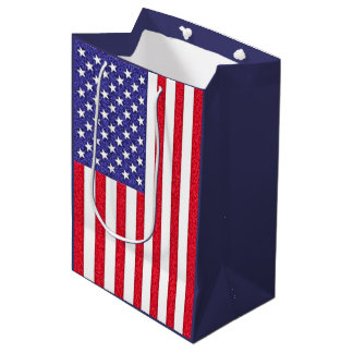 American flag medium gift bag