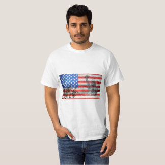 American Flag Military Statue of Liberty T-Shirt