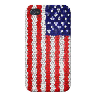 American Flag Mosaic iPhone 4/4S Cover