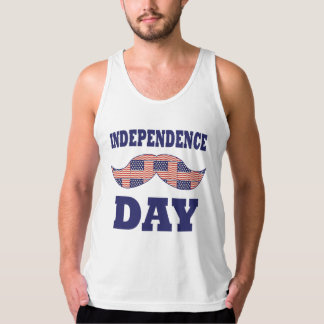 American Flag Mustache Tank Top