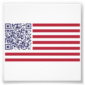 American Flag National Anthem QR Code Photograph