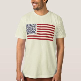 American Flag National Anthem QR Code Shirt