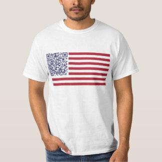 American Flag National Anthem QR Code Tee Shirt