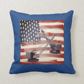 American Flag Northwest Crane Operator  and Shovel Cushion
