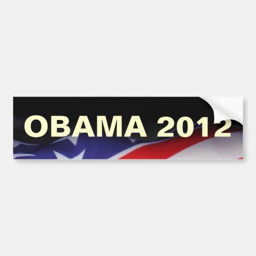 American Flag OBAMA 2012 Campaign Bumper Sticker