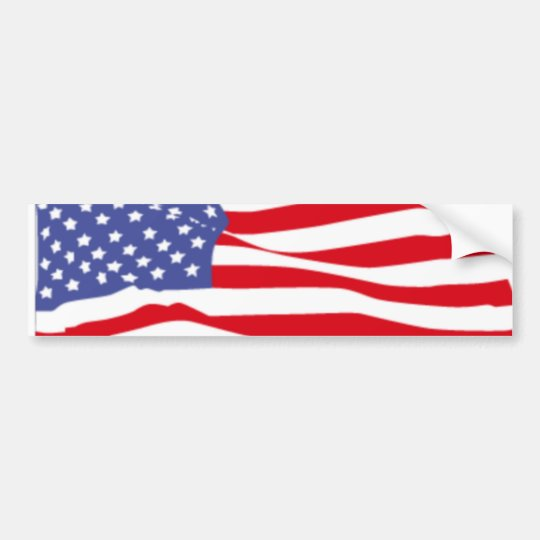 American flag of the USA Bumper Sticker