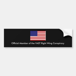 American Flag, Official Member of the VAST Righ... Bumper Sticker