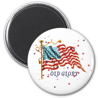 American Flag, Old Glory 6 Cm Round Magnet