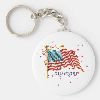 American Flag, Old Glory Basic Round Button Key Ring