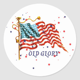 American Flag, Old Glory Round Sticker