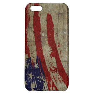 American flag on metal texture iPhone 5C case