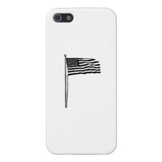 American Flag on Pole iPhone 5 Cases