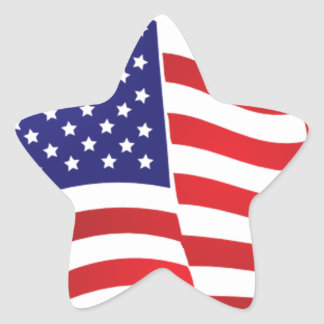 AMERICAN FLAG ONDULATING - BIG SPANGLE BANNER STAR STAR STICKER