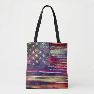 American Flag Original Artwork Tote Bag