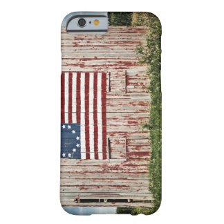 American flag painted on barn barely there iPhone 6 case
