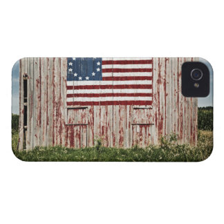 American flag painted on barn Case-Mate iPhone 4 cases