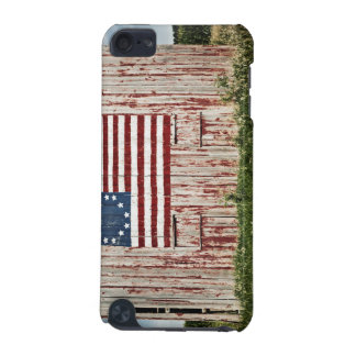 American flag painted on barn iPod touch (5th generation) cases
