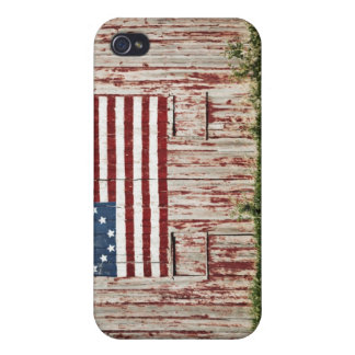 American flag painted on barn iPhone 4 case