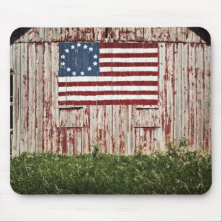 American flag painted on barn mouse pads