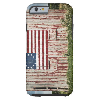 American flag painted on barn tough iPhone 6 case