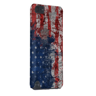 American Flag Painted on Grunge Wall iPod Touch (5th Generation) Cover