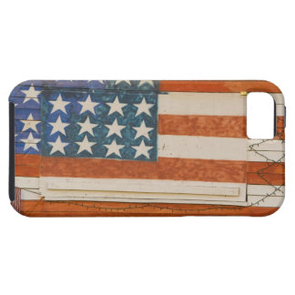 American flag painted onto fireworks stand near iPhone 5 case