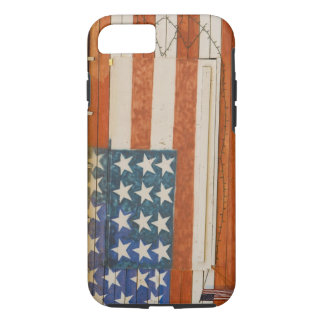 American flag painted onto fireworks stand near iPhone 8/7 case