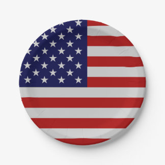 American Flag Paper Plate