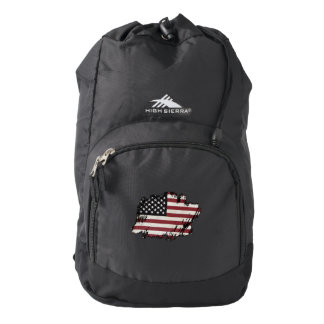 American Flag Patch Backpack