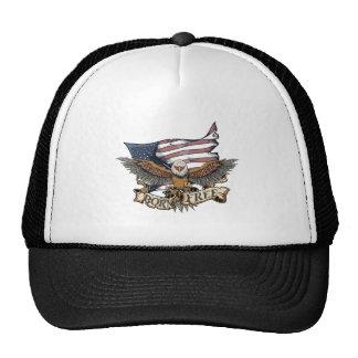 American Flag Patriotic Bald Eagle Born Free Cap