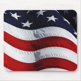 American Flag Patriotic Beauty Mouse Pad