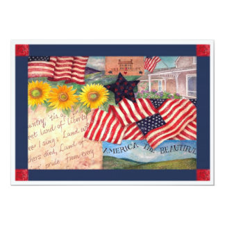 AMERICAN FLAG PATRIOTIC CARD