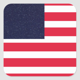 American Flag Patriotic Fourth of July Party Square Sticker