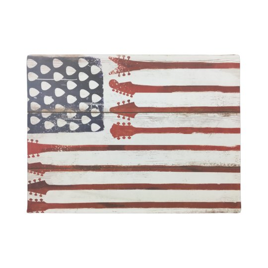 american Flag patriotic Guitar Music door mat