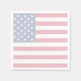 American Flag Patriotic Paper Cocktail Napkins Disposable Serviette