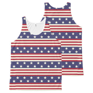 American Flag Patriotic Stars and Stripes USA All-Over Print Tank Top