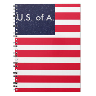 American Flag Patriotic USA Notebooks July 4th